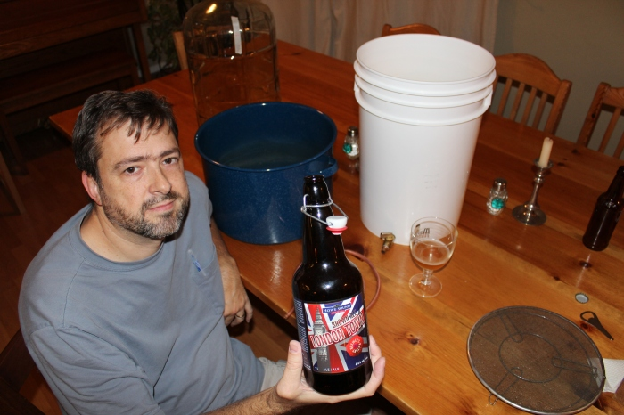 Prolific homebrewer Jeff Hay-Roe with his award-winning London Town Brown Ale.
