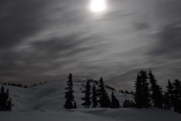 The moon over Mount Steele. Sometimes not sleeping isn't so bad.