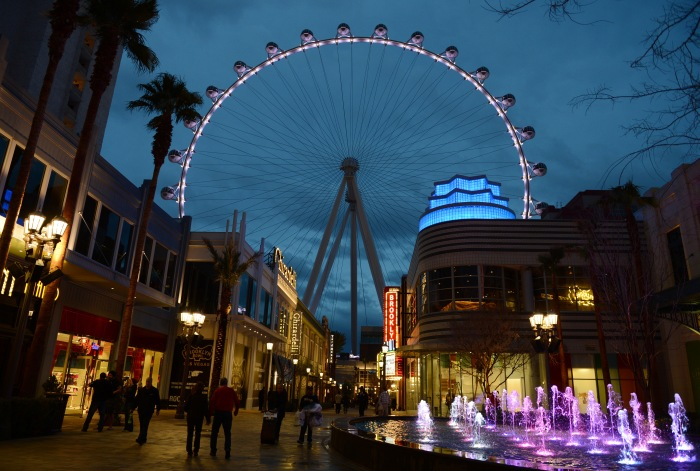 At 550 feet tall, the High Roller is the crown jewel in Caesars Entertainment Corporation's LINQ development, a pedestrian-friendly retail, dining and entertainment neighbourhood on The Strip. The High Roller opened March 31. Denise Truscello photo