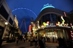 The Las Vegas High Roller At The LINQ Goes Dark For Earth Hour To Raise Awareness For ClimateChange