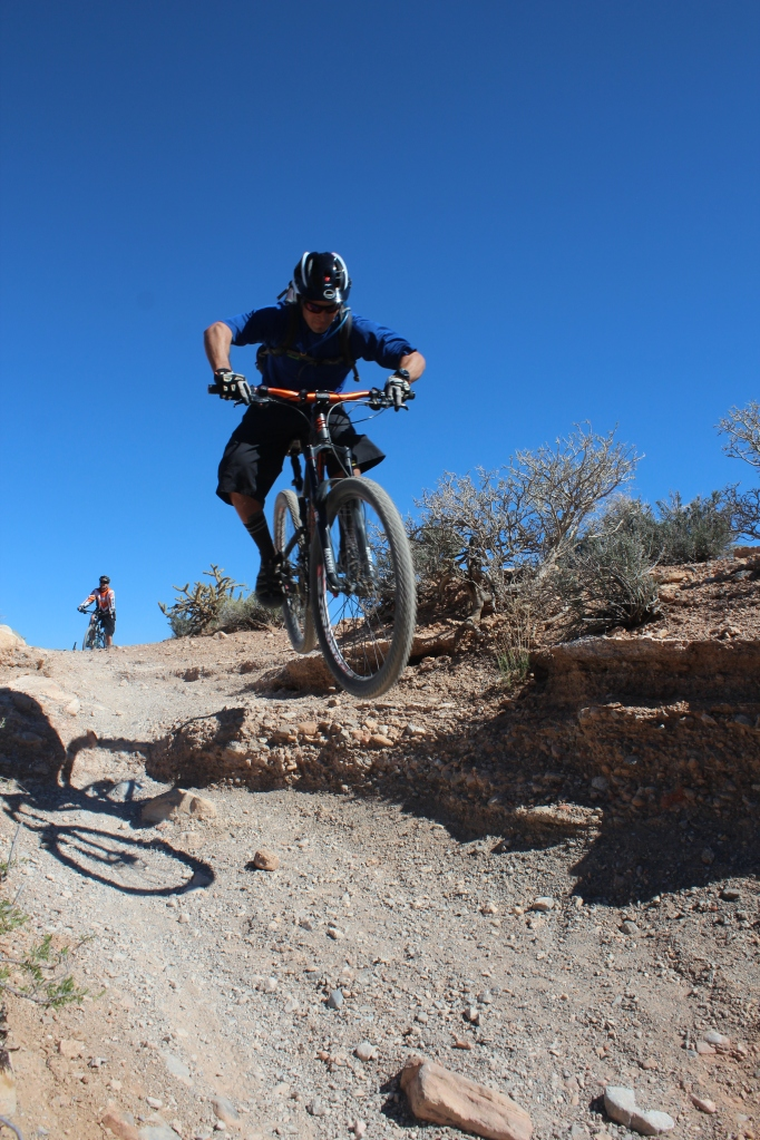 In his element, Brandon Brizzolara, guide and mountain bike specialist for Escape Adventures and Las Vegas Cyclery.