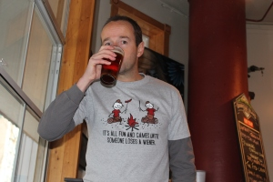 Just one of the many interesting T-shirts I'll be wearing at this weekend's Whistler Village Beer Festival.