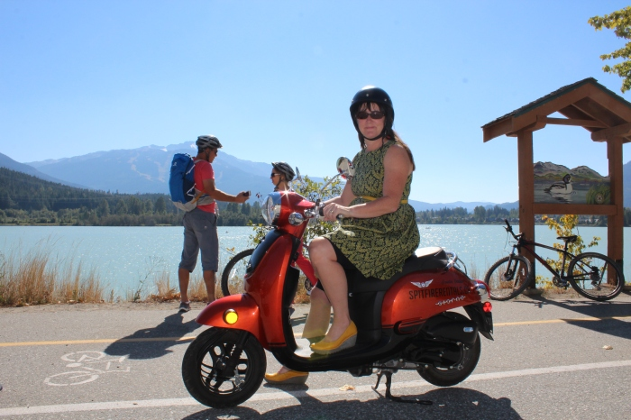 It's not Roman Holiday, but Green Lake, Whistler is a good substitute for anyone on a scooter.