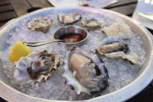 The oysters disappeared moments after this photo at Bearfoot Bistro, Whistler.