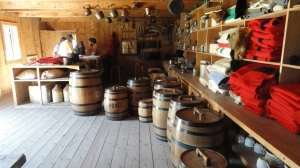 Inside Fort Edmonton.