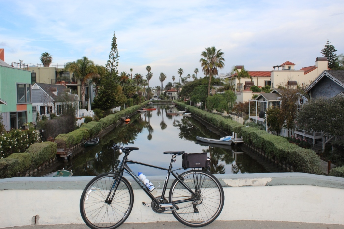 Developer Abbot Kinney built the canals of Little Venice in 1905. A few survive today and restoration work in the 90s made Little Venice one of L.A.'s most desireable neighbourhoods.