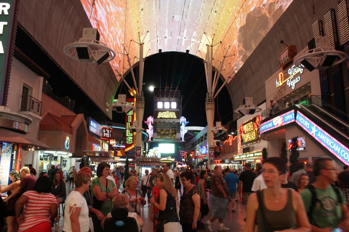 Fremont Street Experience: 5 city blocks of neon chaos.