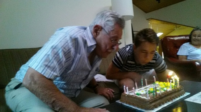 Birthday boys. 102 candles between them! You do the math.
